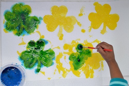 izzing science shamrock art