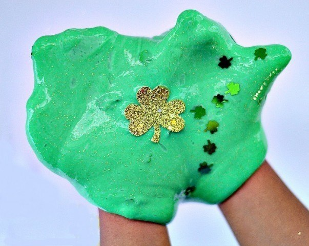 shamrock sparkle slime for st patricks day
