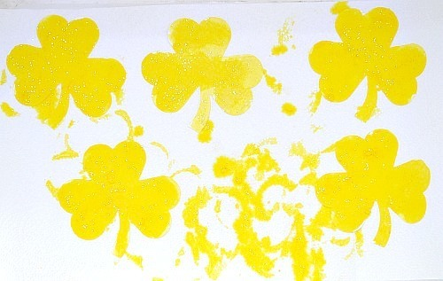shamrock st patricks day activity yellow shamrocks