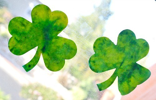 shamrock window art