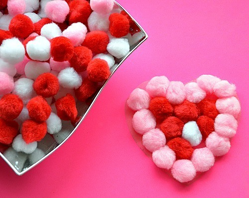 sticky heart art activities for kids