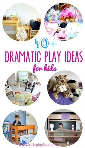 A big Collection of 40 plus role play dramatic play ideas for kids