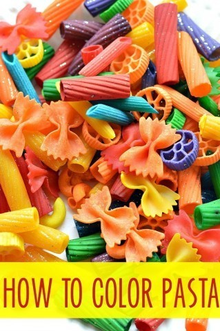 How to color pasta for play and learning
