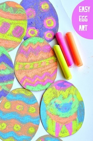 How to create glowing chalk egg easter artHow to create glowing chalk egg easter art