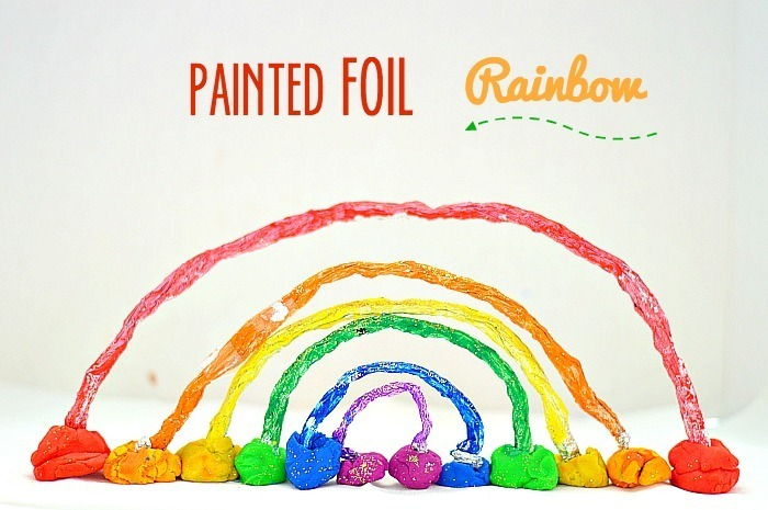 How to make a 3d rainbow with painted foil