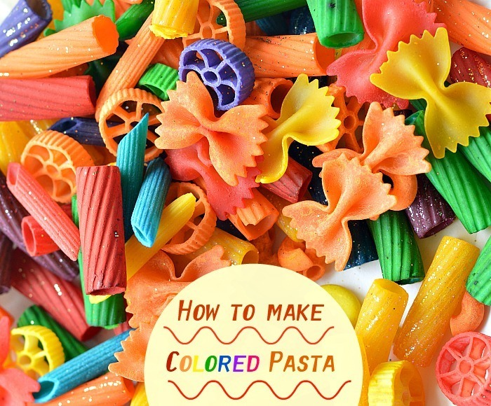 How to make colored pasta for play and learning