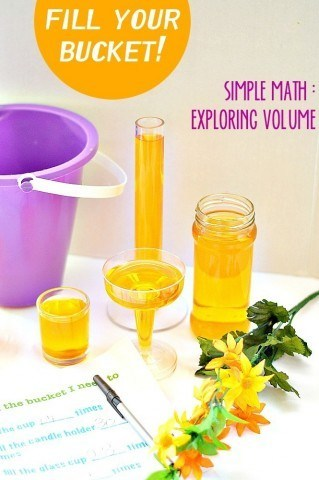 Simple math activity for kids | exploring volume