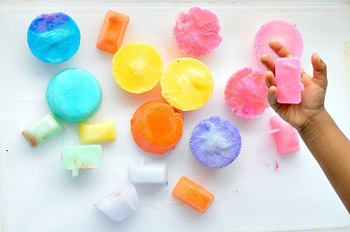 SENSORY PLAY WITH FROZEN SOAP