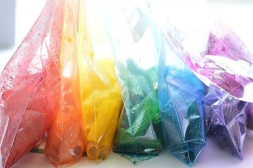 dye pasta in bags