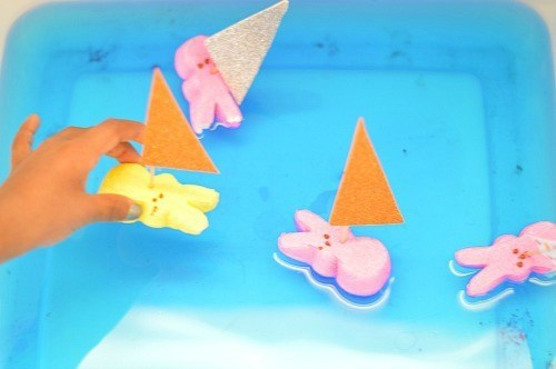 easter activity for kids peeps boats