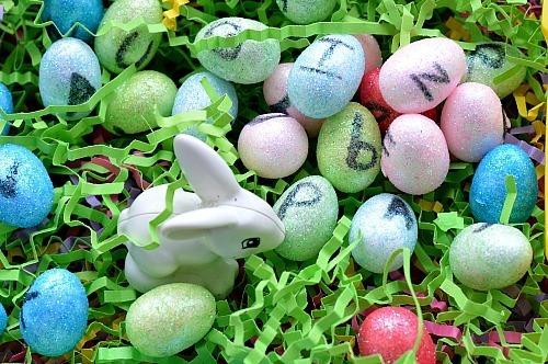 Fine Motor Activities : Mini Alphabet Eggs Hunt
