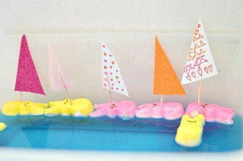 peep boats for easter kids