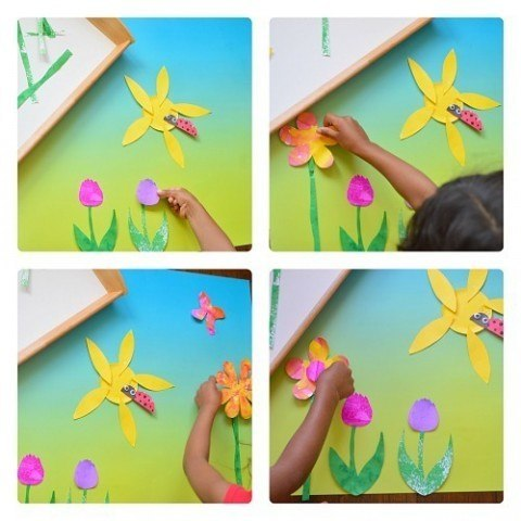 process of making spring art
