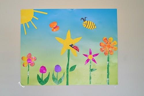 Spring Art For Kids Spring Themed Diy Wall Art Fun Littles