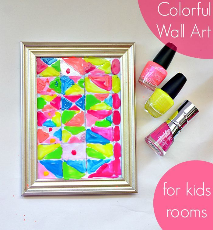 Make wall art for your kid rooms with dollar store picture frames