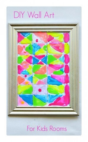 Make wall art for your kids' rooms with dollar store picture frames