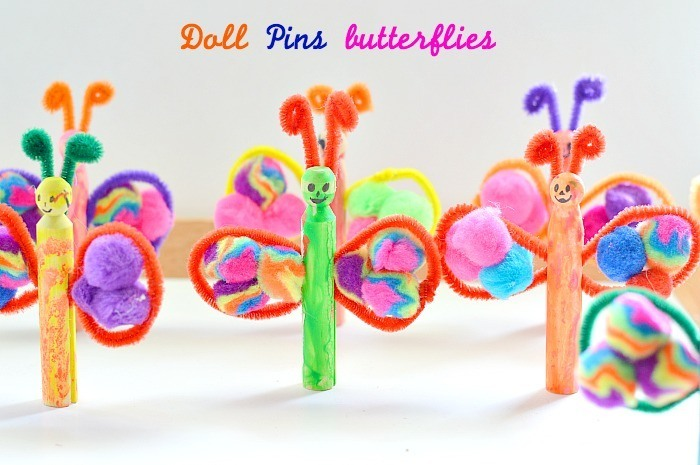 bug crafts with doll pins