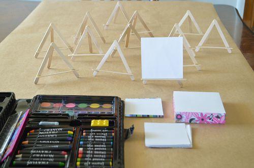 craft sticks easels for kids art