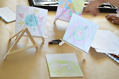 craft sticks easels kids art