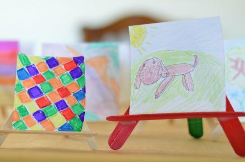 homemade kids art gallery