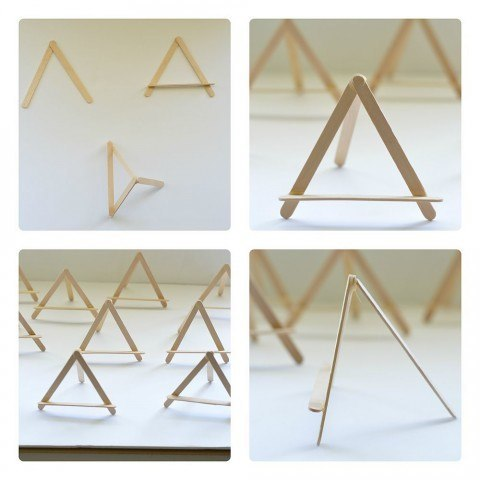 =making the mini easels for art projects display