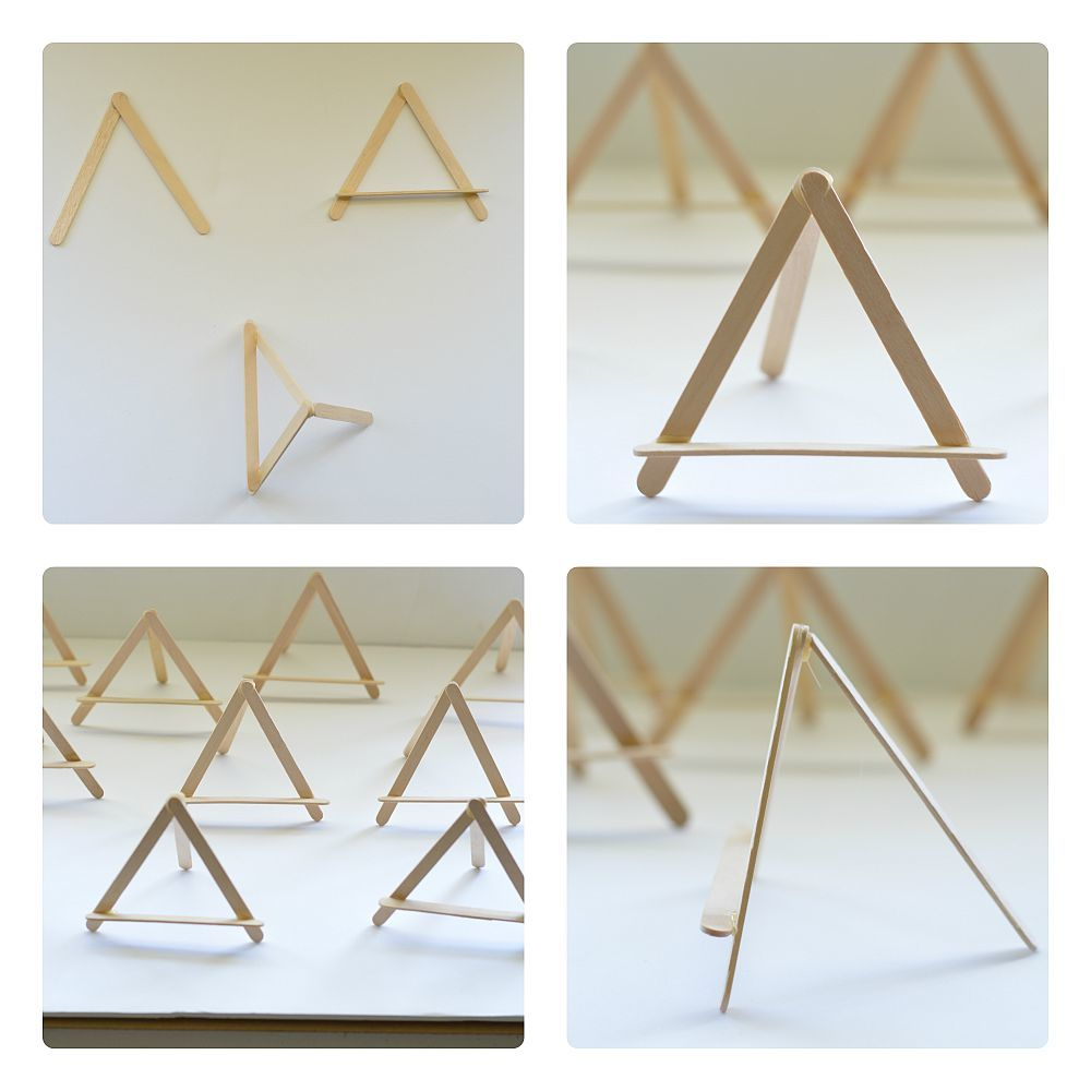 Making The Mini Easels For Art Projects Display