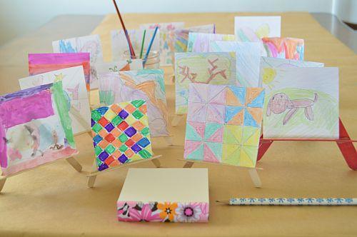 mini easels art for kids
