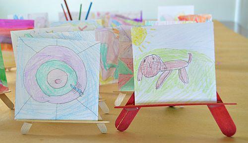 mini easels art gallery