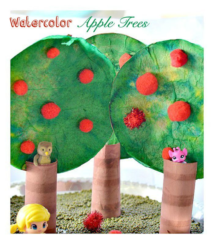 Apple Tree Craft and pretend play