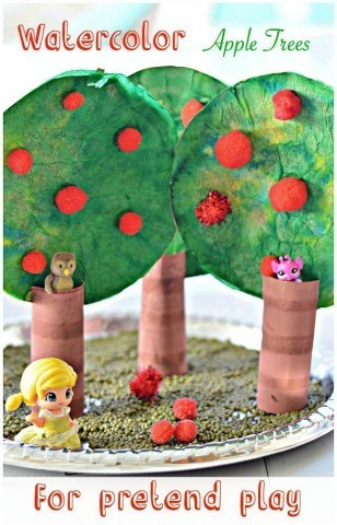 apple tree craft for prtend play