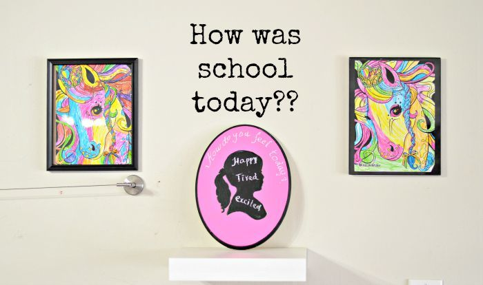 share your emotions with chalkboard wall art