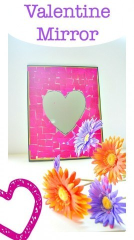 Homemade Valentine Gift with dollar store mirror