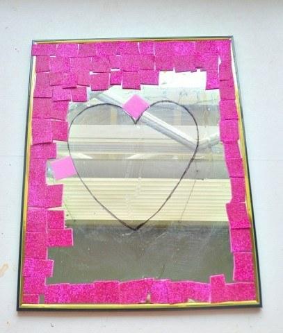 mirror valentine day craft
