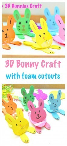 Make 3d bunnies for easter