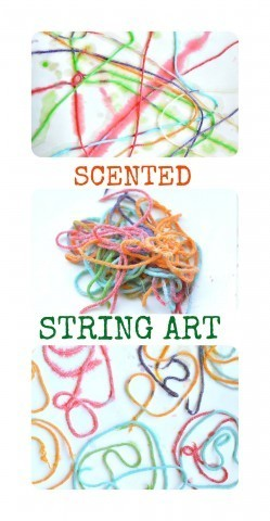 Scented string kids art