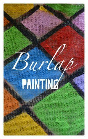 Painting on Burlap Cloth