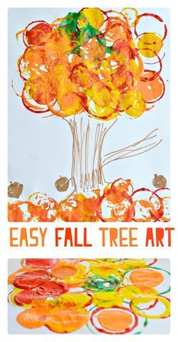 Simple Fall Tree Art Projects even toddlers can make