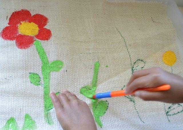 art activities for kid s with burlap