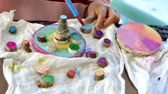art-projects-for-kids-wood-cookies-watercolor