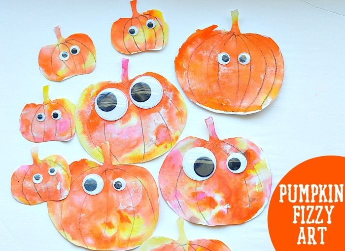pumpkin fizzy art