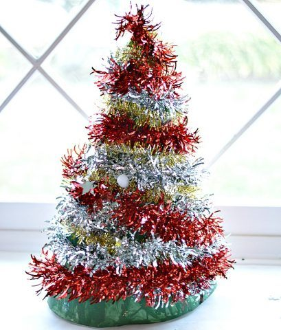 christmas-tree-crafts-with-tinsel