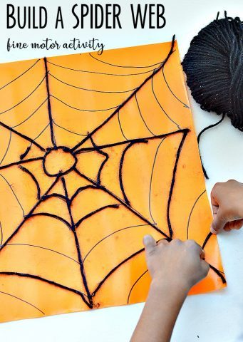 halloween-sticky-spider-web-fine-motor-play
