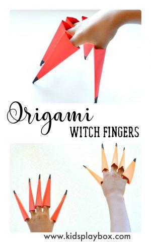 Easy Origami For Kids Make Witch Fingers For Halloween Fun Littles