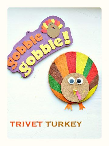 turkey-craft-for-kids-with-trivets-and-coasters