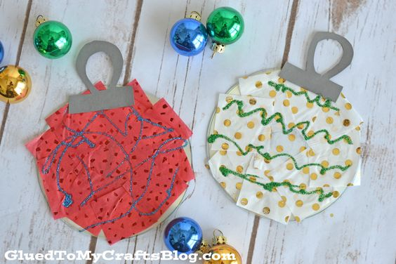 Recycled Christmas Ornaments - CD ornaments