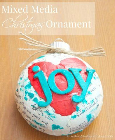 Recycled Christmas Ornaments - mixed media