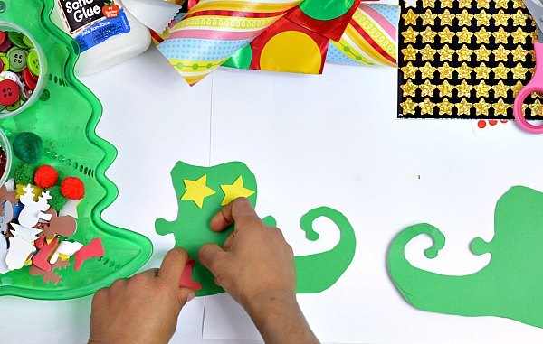 creating elf boots crafts for kids