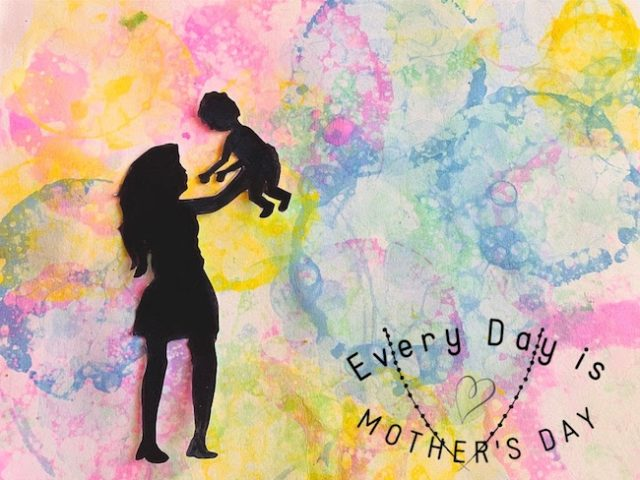 mothers day art idea with process art
