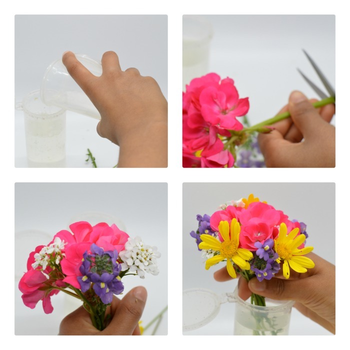 PROCESS FOR MAKING VASES FLOWERS