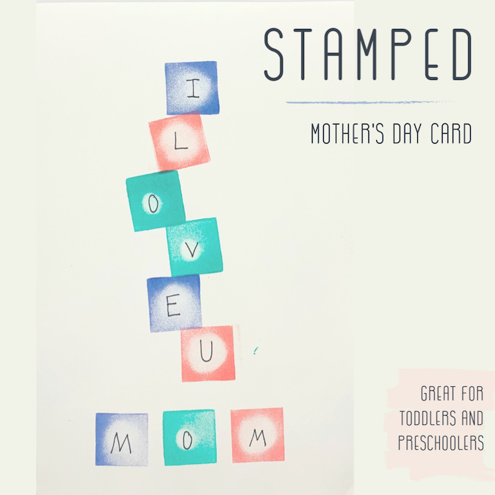 stamping homemade cards for mothers day